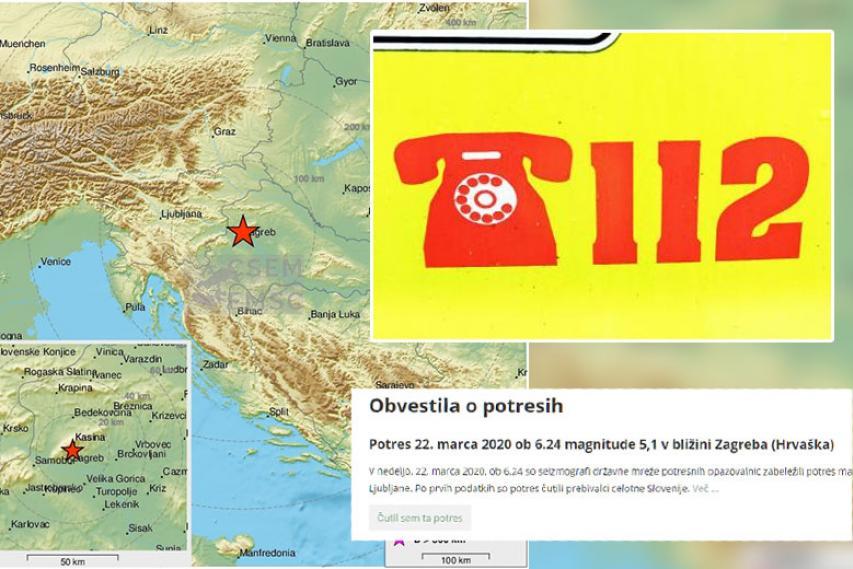 Potres, 22. marec 2020